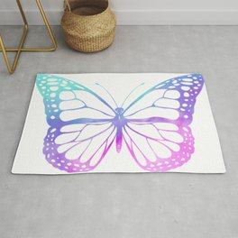 Colourful butterfly Rug