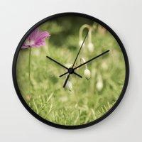 verse Wall Clocks featuring My Gentle Verse by Nicole Rae