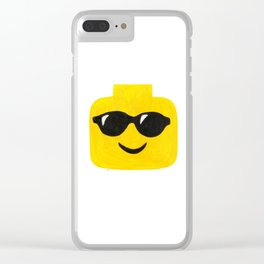 Sunglasses - Emoji Minifigure Painting Clear iPhone Case