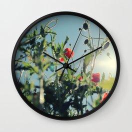 poppy flower no14 Wall Clock