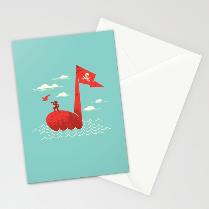 the pirate's song Stationery Cards