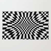 chess Area & Throw Rugs featuring WONDER CHESS by Keitopolis