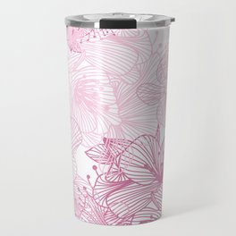 Pink Cherry Blossom Travel Mug
