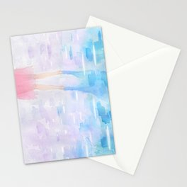 Pink and Blue Season Stationery Cards