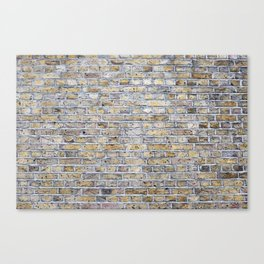 Old brick british wall Canvas Print
