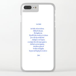 Our Father Clear iPhone Case