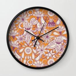 sarilmak tangerine damson Wall Clock