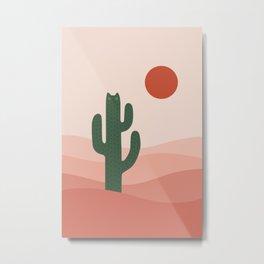 Cat Landscape 84: Cat-tus Metal Print
