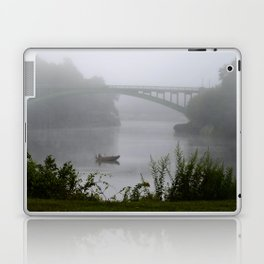 Foggy Fishing Day on the Delaware River Laptop & iPad Skin