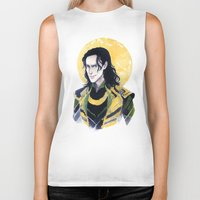 enerjax Biker Tanks featuring Loki of Asgard by enerjax