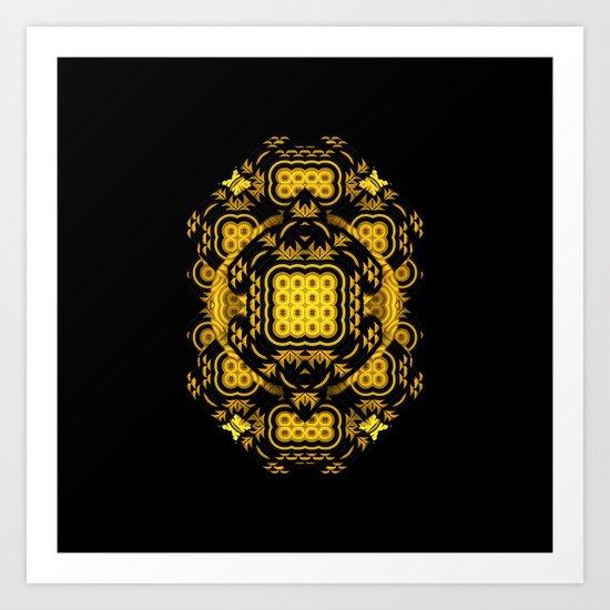 Talisman (Yellow/Black) Art Print