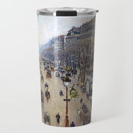 "Camille Pissarro ""Boulevard Montmartre, morning, cloudy weather"" Travel Mug"