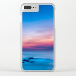 Sunset long exposure over the ocean Clear iPhone Case