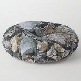 rocks in the rain Floor Pillow