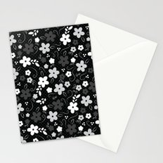 Black & White Floral Stationery Cards