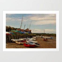 The Harbour - Burnham Overy Staithe Art Print