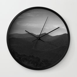 Peaks and Valleys Wall Clock