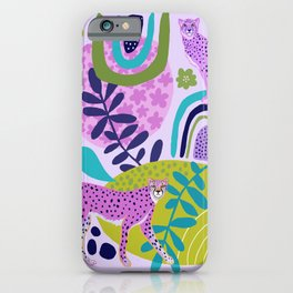Two Pink Cheetahs iPhone Case
