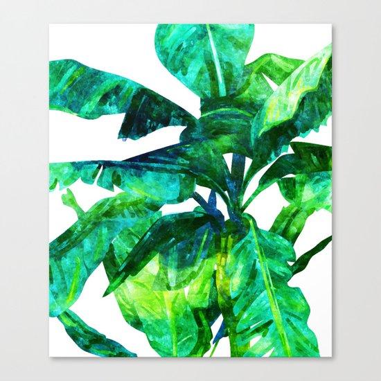 Banana Leaves #society6 #decor #buyart Canvas Print
