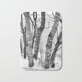 Black and White Trees Bath Mat