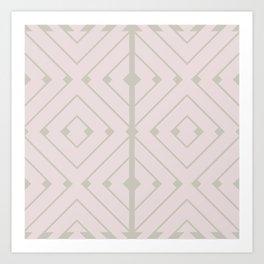 MONO:CHROMA Geometrica Earthy Pink II Art Print