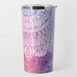 Rainbow Mandala Travel Mug