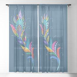 One Feather ... One World Sheer Curtain