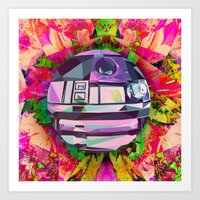 R2 DOT (Floral Edition) Art Print
