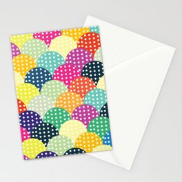 Poster Background | Colorful Circles Stationery Cards