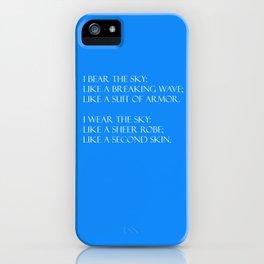 Summer air (blue) iPhone Case