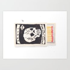 Skull Matchbox Art Print