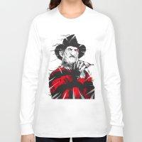 freddy krueger Long Sleeve T-shirts featuring Freddy by Akyanyme