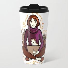 Business cat Travel Mug
