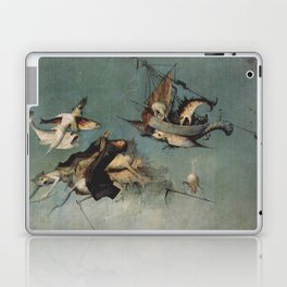 Hieronymus Bosch flying ships and creatures Laptop & iPad Skin