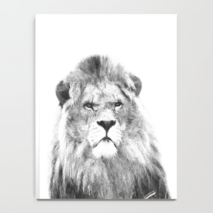 Black and white lion animal portrait Notebook