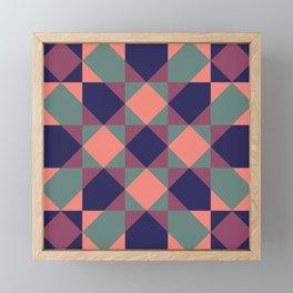 Native Patchwork Pattern Osiris Framed Mini Art Print
