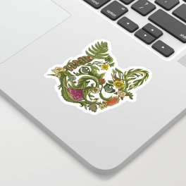 Botanical French Bulldog Sticker