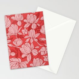 Pretty Pink Pattern Stationery Cards