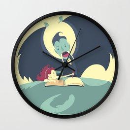 Vampire and Girl Wall Clock