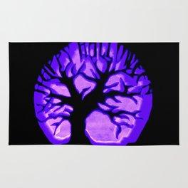 Happy HaLLoWeen. Brain Tree : Purple Rug