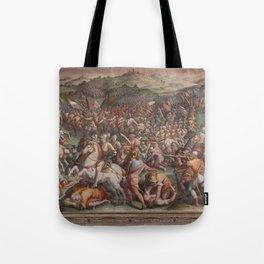 Classic Art The battle of Marciano in Val di Chiana By Giorgio Vasari Tote Bag