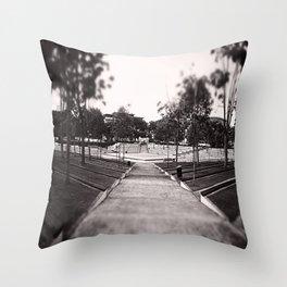 Umbrella Park Throw Pillow