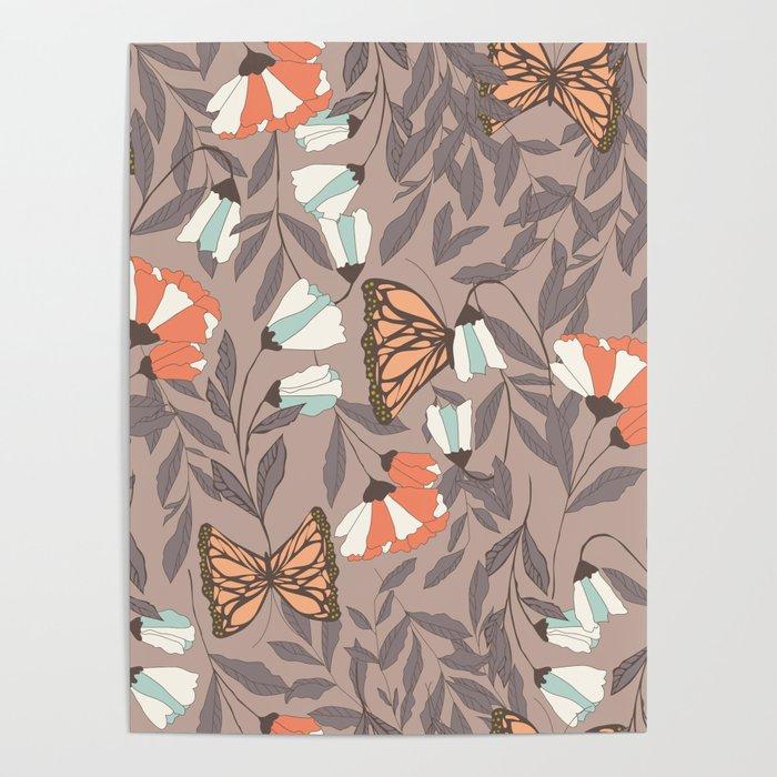 Monarch garden 004 Poster