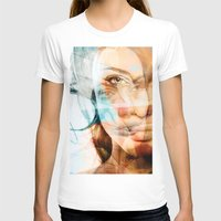 angelina jolie T-shirts featuring faces of Angelina Jolie by Karma (Bhutangirl)