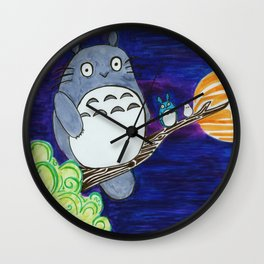 Midnight Totoro Wall Clock