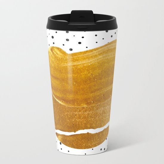 Stay Gold #society6 #decor #buyart Metal Travel Mug