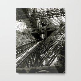 Eiffel Guts Metal Print