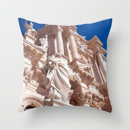 Cathedral of Siracusa - Sicily Throw Pillow