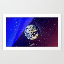Cosmos Earth Art Print