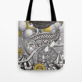 Roller Coaster Ride Tote Bag